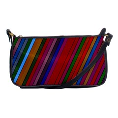 Color Stripes Pattern Shoulder Clutch Bags by Simbadda