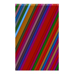 Color Stripes Pattern Shower Curtain 48  X 72  (small)  by Simbadda