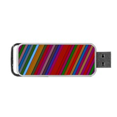 Color Stripes Pattern Portable Usb Flash (two Sides) by Simbadda