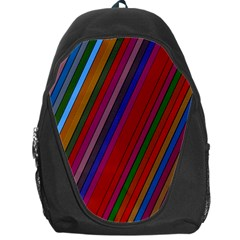 Color Stripes Pattern Backpack Bag by Simbadda