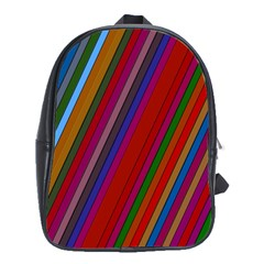 Color Stripes Pattern School Bags (xl)  by Simbadda
