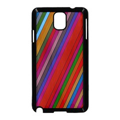 Color Stripes Pattern Samsung Galaxy Note 3 Neo Hardshell Case (black) by Simbadda