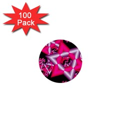 Star Of David On Black 1  Mini Buttons (100 Pack)