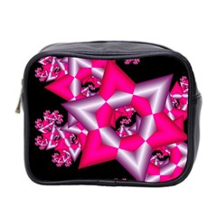 Star Of David On Black Mini Toiletries Bag 2 Side by Simbadda