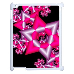 Star Of David On Black Apple Ipad 2 Case (white) by Simbadda