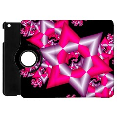 Star Of David On Black Apple Ipad Mini Flip 360 Case by Simbadda
