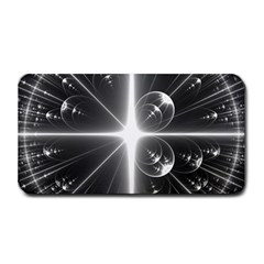 Black And White Bubbles On Black Medium Bar Mats by Simbadda