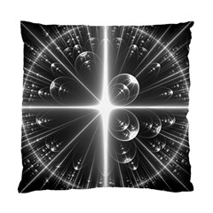 Black And White Bubbles On Black Standard Cushion Case (one Side) by Simbadda