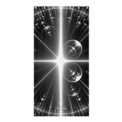 Black And White Bubbles On Black Shower Curtain 36  X 72  (stall)  by Simbadda