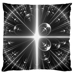 Black And White Bubbles On Black Large Cushion Case (two Sides)