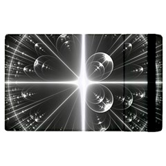 Black And White Bubbles On Black Apple Ipad 3/4 Flip Case by Simbadda