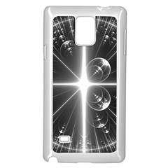 Black And White Bubbles On Black Samsung Galaxy Note 4 Case (white) by Simbadda