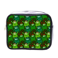 Seamless Little Cartoon Men Tiling Pattern Mini Toiletries Bags by Simbadda