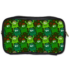 Seamless Little Cartoon Men Tiling Pattern Toiletries Bags by Simbadda
