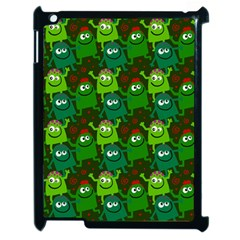 Seamless Little Cartoon Men Tiling Pattern Apple Ipad 2 Case (black) by Simbadda