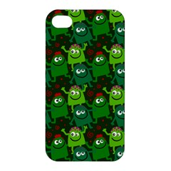 Seamless Little Cartoon Men Tiling Pattern Apple Iphone 4/4s Premium Hardshell Case by Simbadda