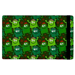 Seamless Little Cartoon Men Tiling Pattern Apple Ipad 3/4 Flip Case by Simbadda