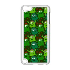 Seamless Little Cartoon Men Tiling Pattern Apple Ipod Touch 5 Case (white) by Simbadda