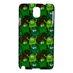 Seamless Little Cartoon Men Tiling Pattern Samsung Galaxy Note 3 N9005 Hardshell Case by Simbadda