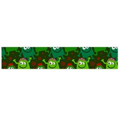 Seamless Little Cartoon Men Tiling Pattern Flano Scarf (large) by Simbadda