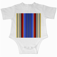 Colorful Stripes Background Infant Creepers