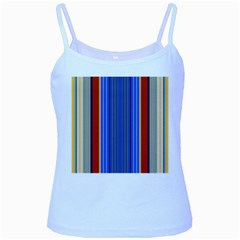 Colorful Stripes Background Baby Blue Spaghetti Tank by Simbadda