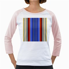 Colorful Stripes Background Girly Raglans