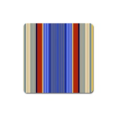 Colorful Stripes Background Square Magnet by Simbadda