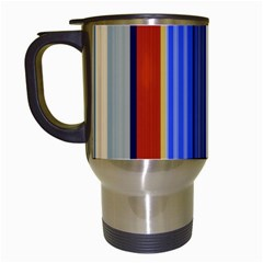 Colorful Stripes Background Travel Mugs (white)