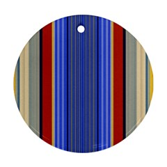 Colorful Stripes Background Round Ornament (two Sides)
