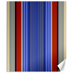 Colorful Stripes Background Canvas 8  X 10  by Simbadda