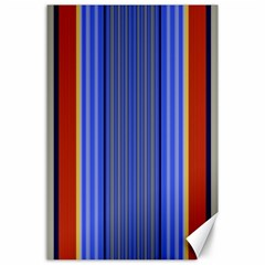Colorful Stripes Background Canvas 24  X 36  by Simbadda
