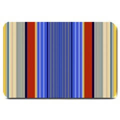 Colorful Stripes Background Large Doormat  by Simbadda