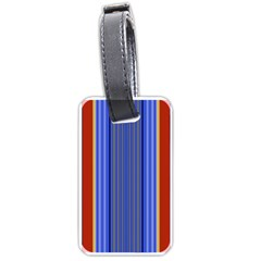 Colorful Stripes Background Luggage Tags (two Sides) by Simbadda