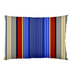 Colorful Stripes Background Pillow Case (two Sides) by Simbadda