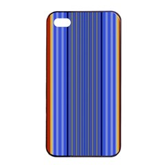 Colorful Stripes Background Apple Iphone 4/4s Seamless Case (black) by Simbadda