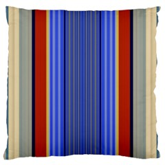 Colorful Stripes Background Large Cushion Case (two Sides) by Simbadda