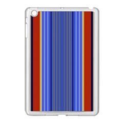 Colorful Stripes Background Apple Ipad Mini Case (white) by Simbadda
