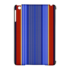 Colorful Stripes Background Apple Ipad Mini Hardshell Case (compatible With Smart Cover) by Simbadda