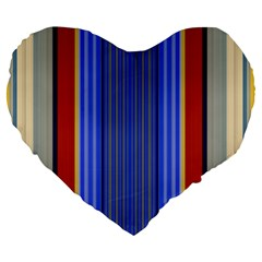 Colorful Stripes Background Large 19  Premium Heart Shape Cushions by Simbadda