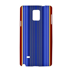 Colorful Stripes Background Samsung Galaxy Note 4 Hardshell Case by Simbadda