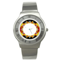 Circle Fractal Frame Stainless Steel Watch by Simbadda