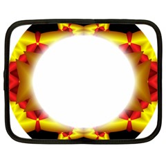 Circle Fractal Frame Netbook Case (xxl)  by Simbadda