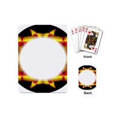 Circle Fractal Frame Playing Cards (mini)  by Simbadda