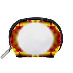 Circle Fractal Frame Accessory Pouches (small)  by Simbadda