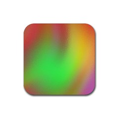 November Blurry Brilliant Colors Rubber Square Coaster (4 Pack)