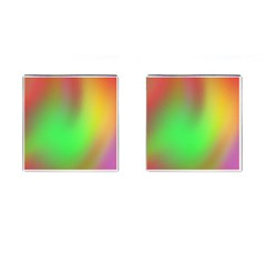 November Blurry Brilliant Colors Cufflinks (square) by Simbadda