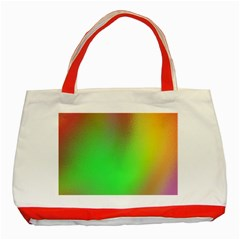 November Blurry Brilliant Colors Classic Tote Bag (red)