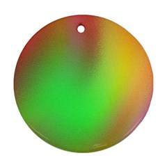 November Blurry Brilliant Colors Round Ornament (two Sides) by Simbadda