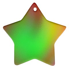 November Blurry Brilliant Colors Star Ornament (two Sides) by Simbadda